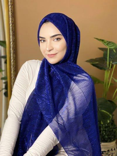 blue stylish hijab