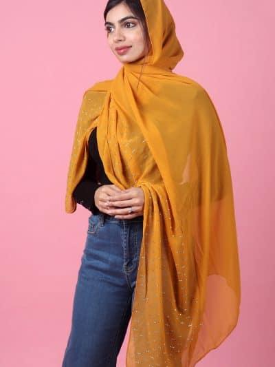 stylish hijab girl dp shawl