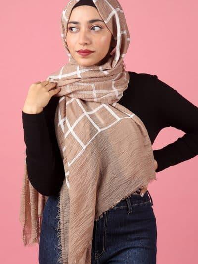 light brown hijab