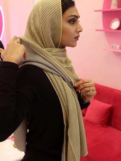 Stylish crinkled hijab