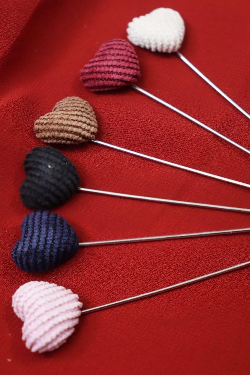 Hijab heart pins