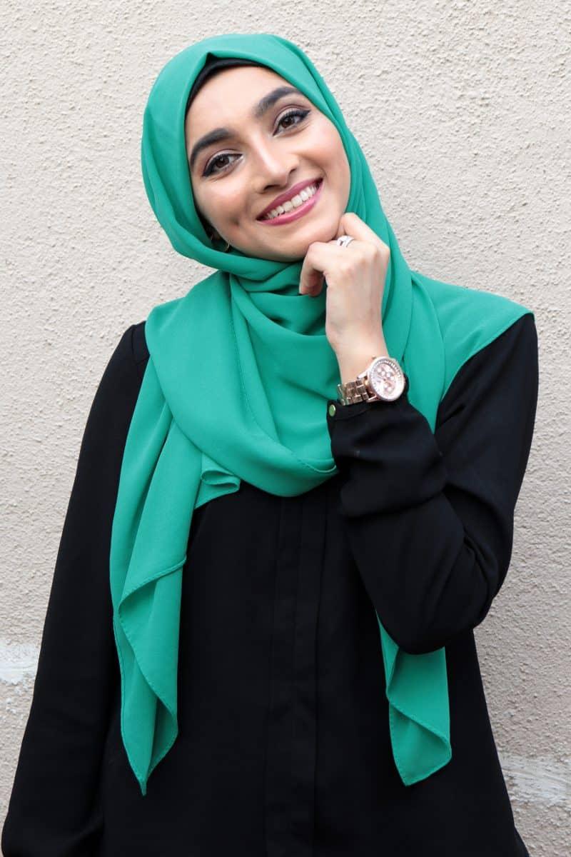 Cute green hijab