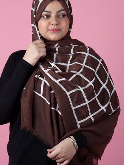 brown simple hijab