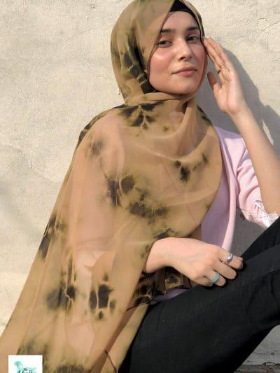Tie Dye Chiffon hijab